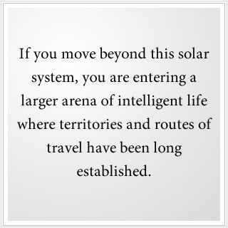 Beyond this solar system, space travel routes are well established.