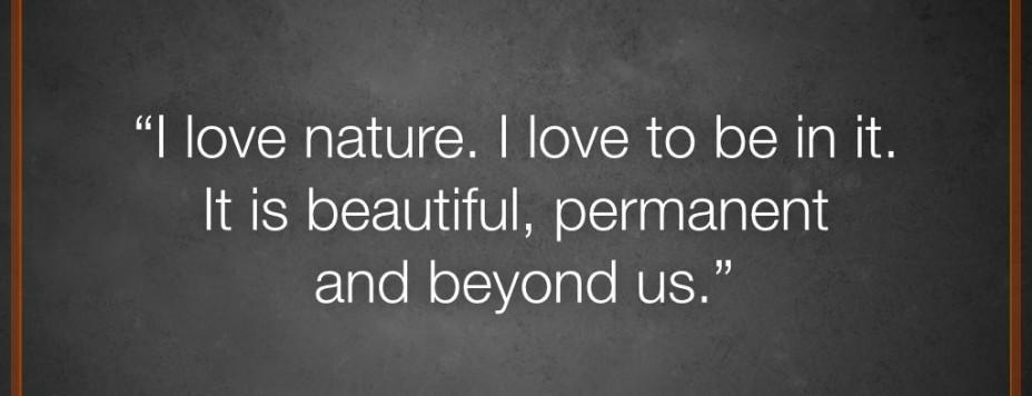 Why I love nature