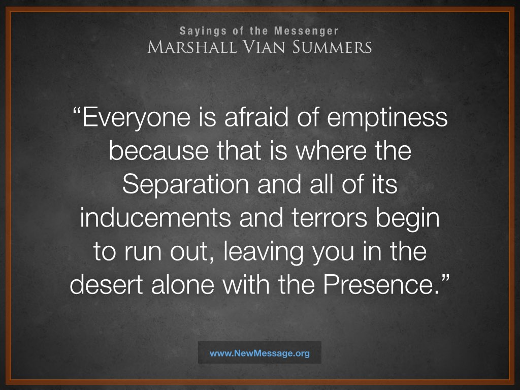 Everyone is Afraid of Emptiness