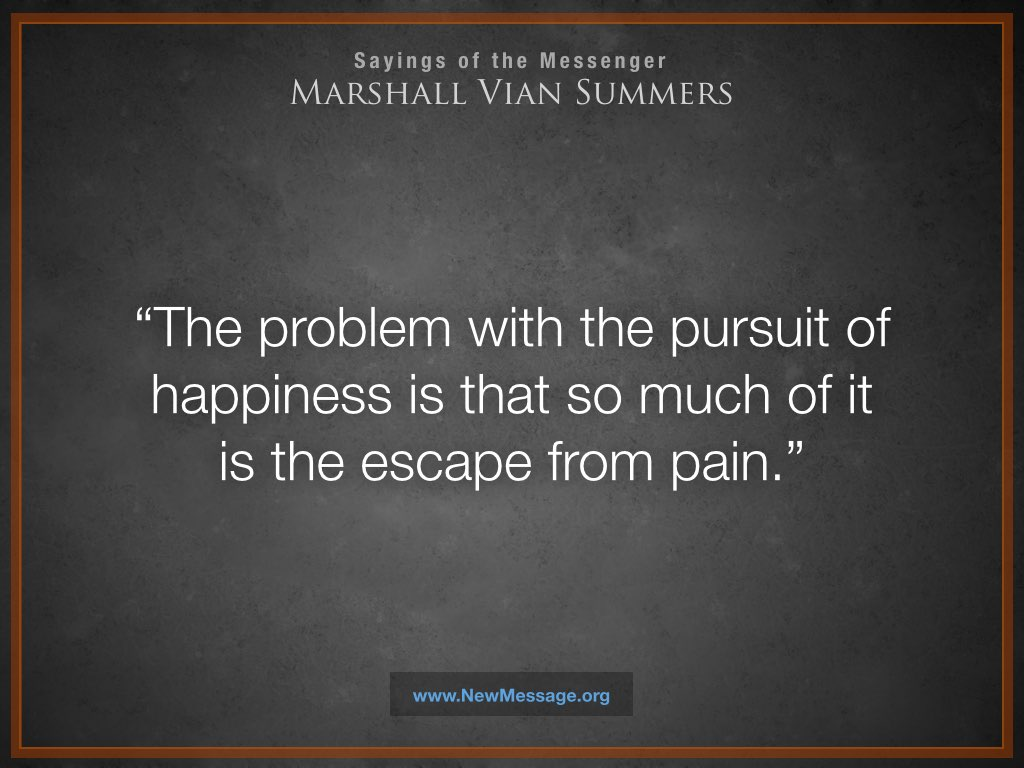 Happiness and the Escape from Pain