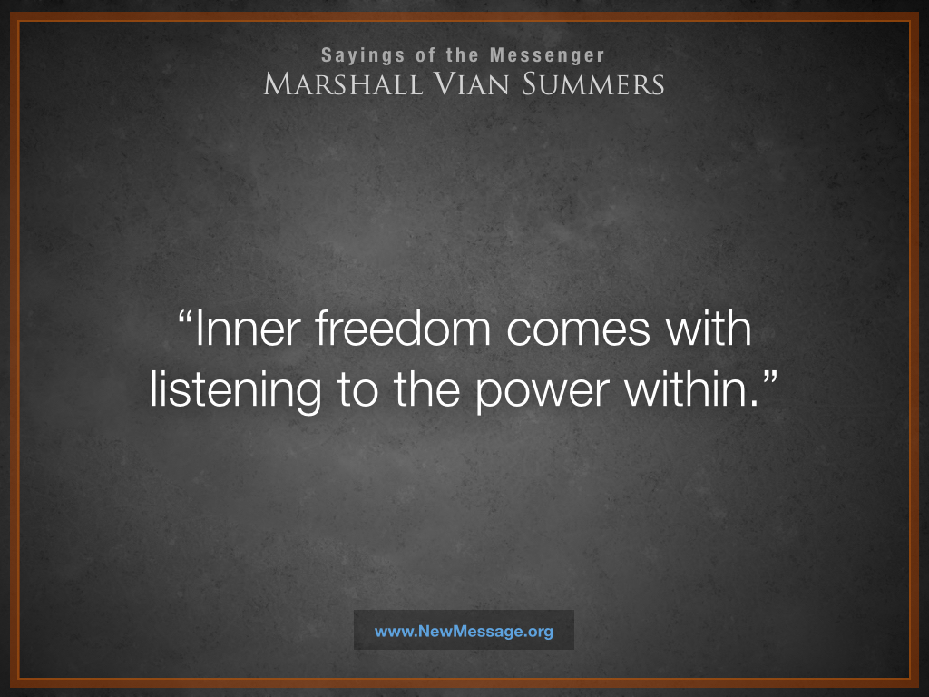 Inner Freedom Comes with Listening