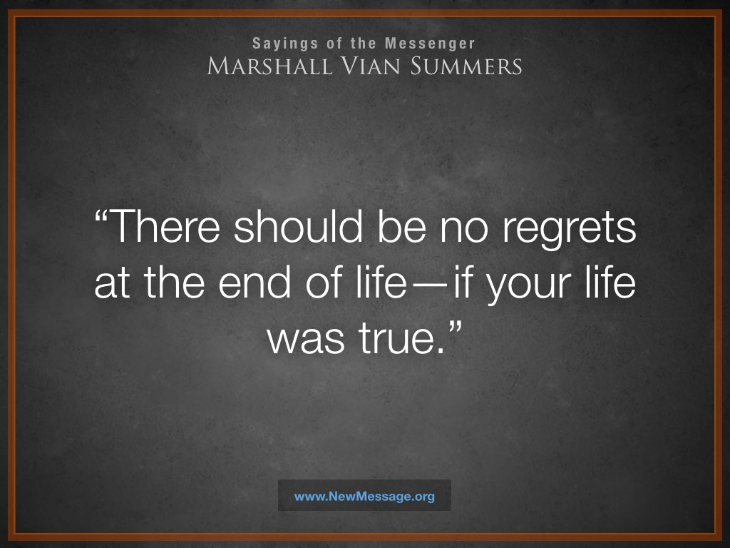 No Regrets at the End of Life