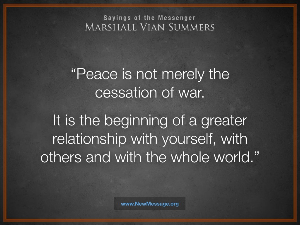 Peace is a Greater Relationship