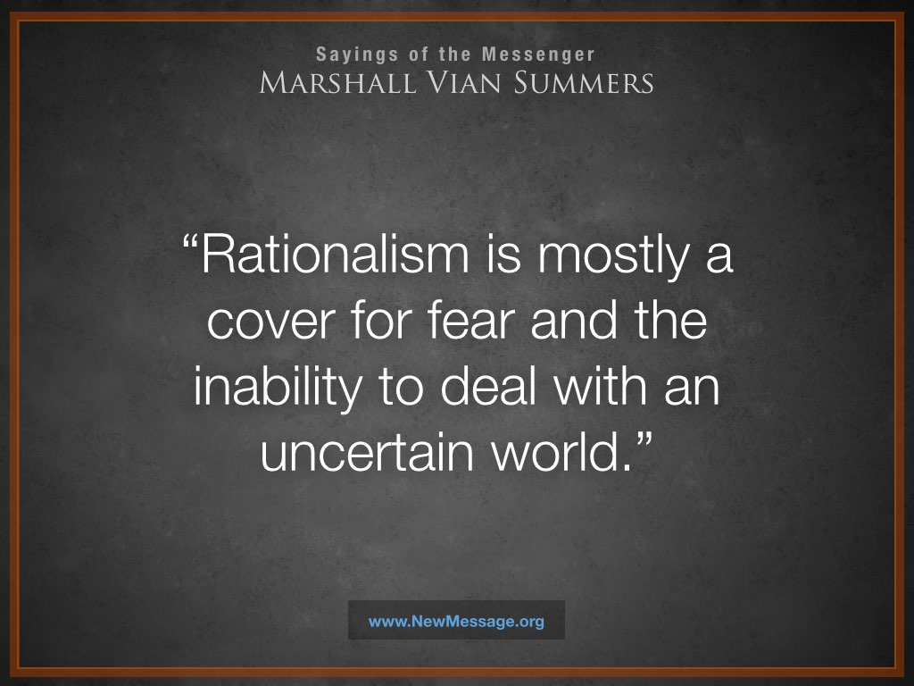 Rationalism and an Uncertain World