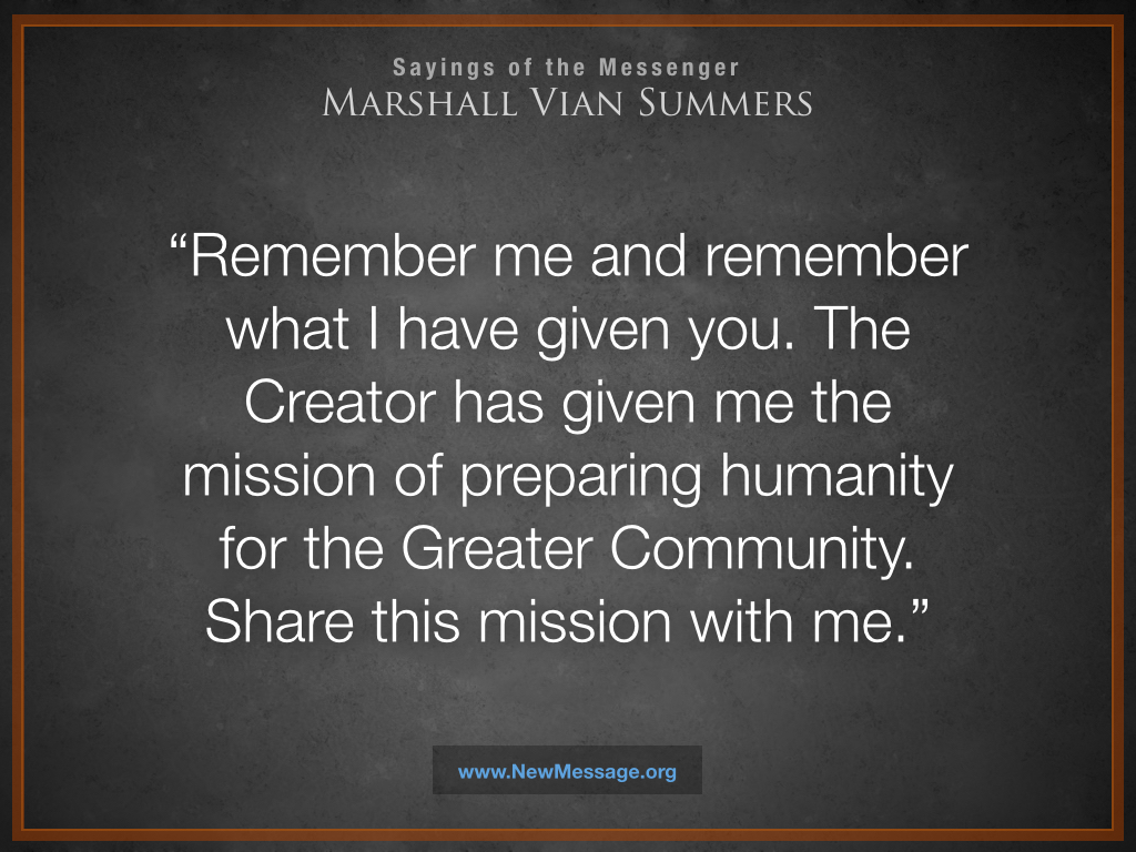 Remember Me and Share this Mission with Me