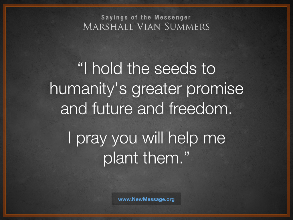 Seeds to Humanity's Greater Promise