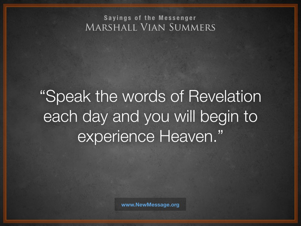 Speak the Words of Revelation