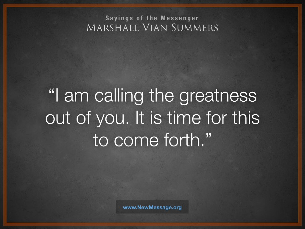 The Calling for Greatness