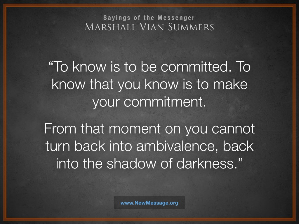 To Know is to be Committed