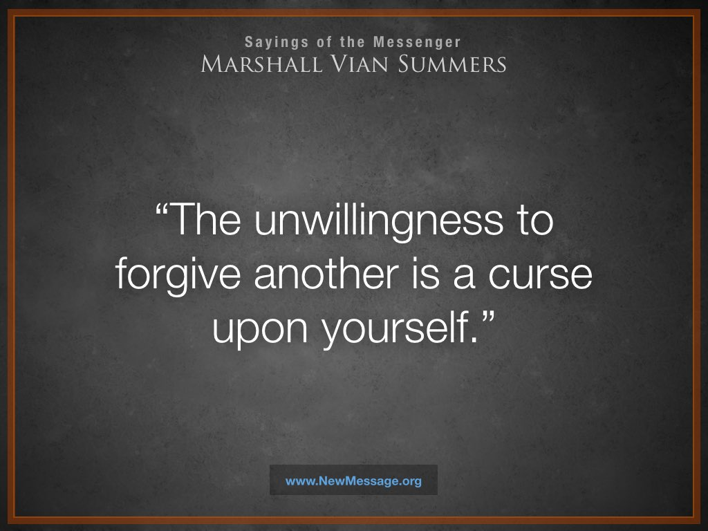 The unwillingness to forgive another
