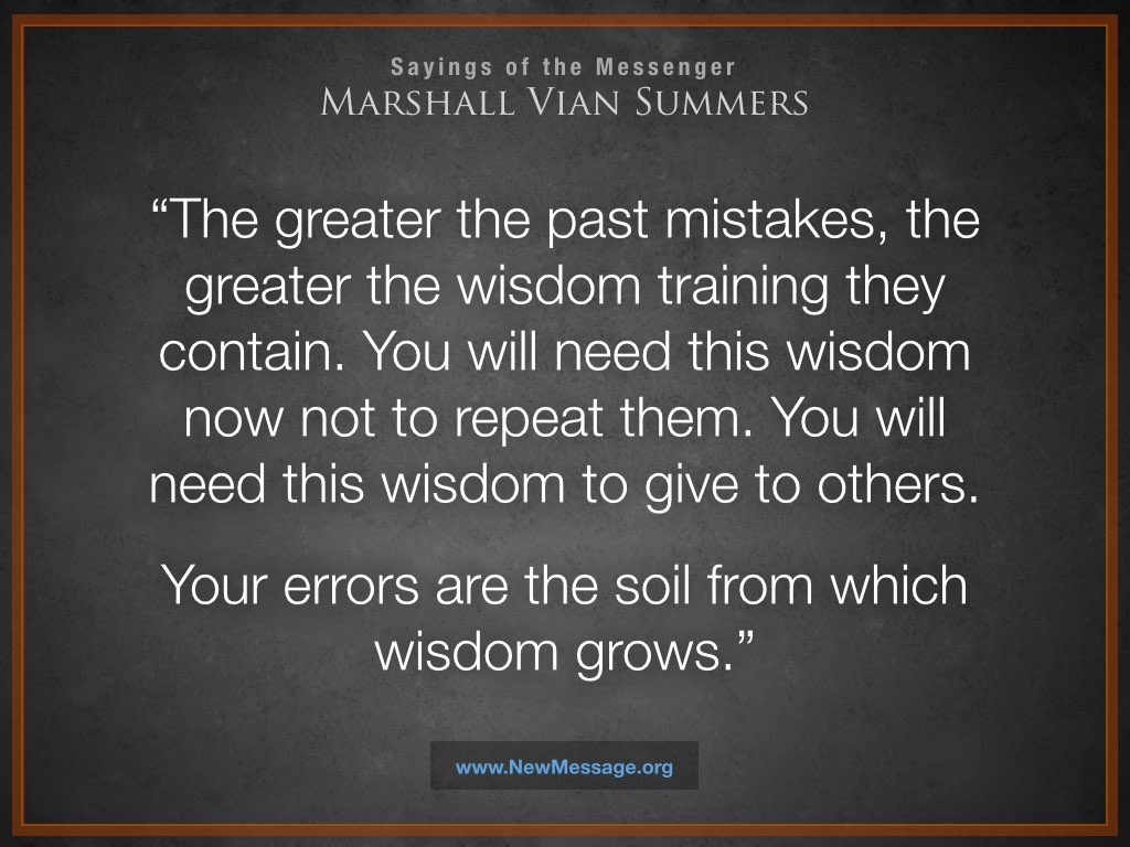 Errors are the Soil for Wisdom to Grow