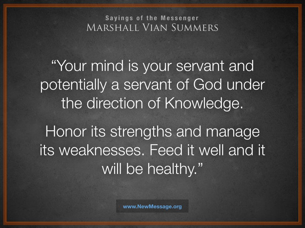 Your mind is your servant