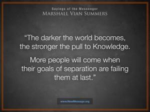 As the world gets darker...