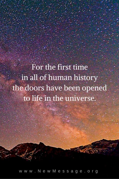 Opening the doors to the living universe.