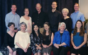 From upper left: Robert Busbey, Patricia Summers, Marshall Vian Summers, Reed Summers, Carol Coffey, Will Burrows, Tyyne Andrews, Darlene Mitchell, Ayesha Summers, Jeanine Butler, Ellen Mitchell, Ana Burrows. Photo taken: Sept, 2015