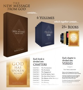 About the Volumes and Books of the New Message from God