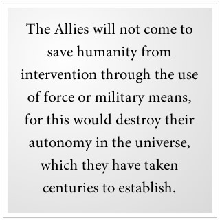 The Allies will not save us from alien intervention