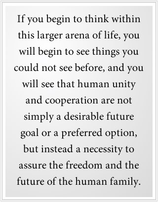 human unity is a necessity
