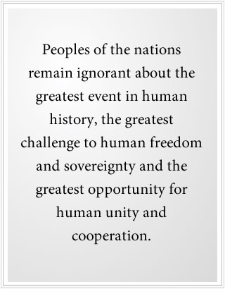 the greatest opportunity for human unity