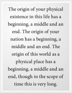 The origin of life has a beginning, middle and end