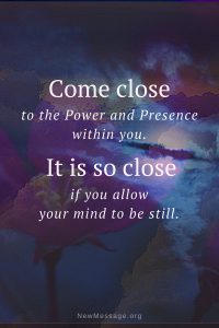 With pure guided meditation you can come close to the power within you.