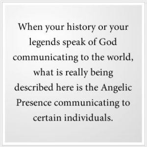 the Angelic Presence communicates to certain individuals.