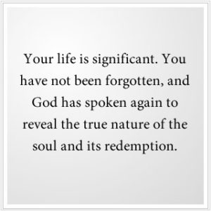 God has spoken again to reveal the true nature of the soul.