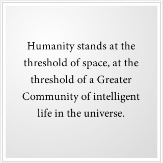 Humanity stands on the threshold of space