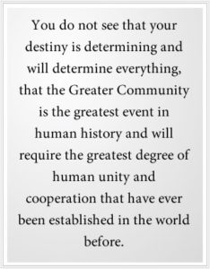 Your destiny is everything