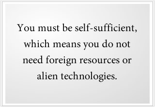 We don't need alien technologies