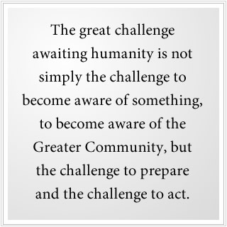 The great challenge is not simply to become aware