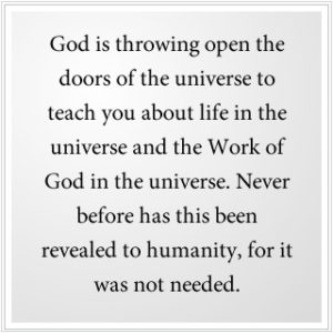 Work of God in the universe
