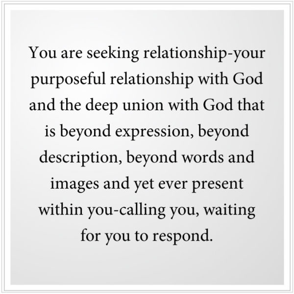The deep union with God that is beyond expression.