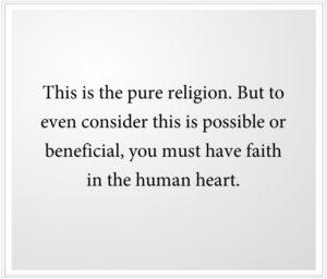 Faith in the Human Heart