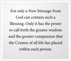 a new message from God is a great blessing