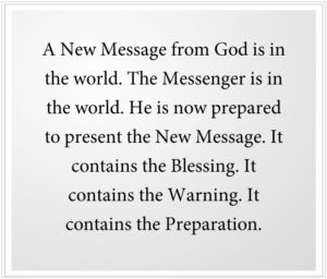 A New Message from God contains the Blessing.