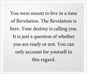Your destiny is calling you