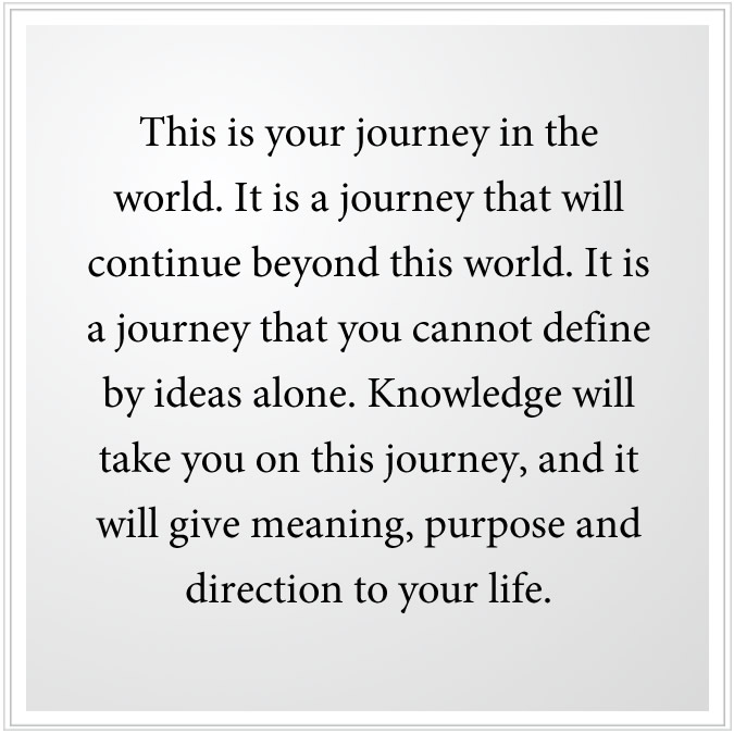 Your journey on Earth and beyond