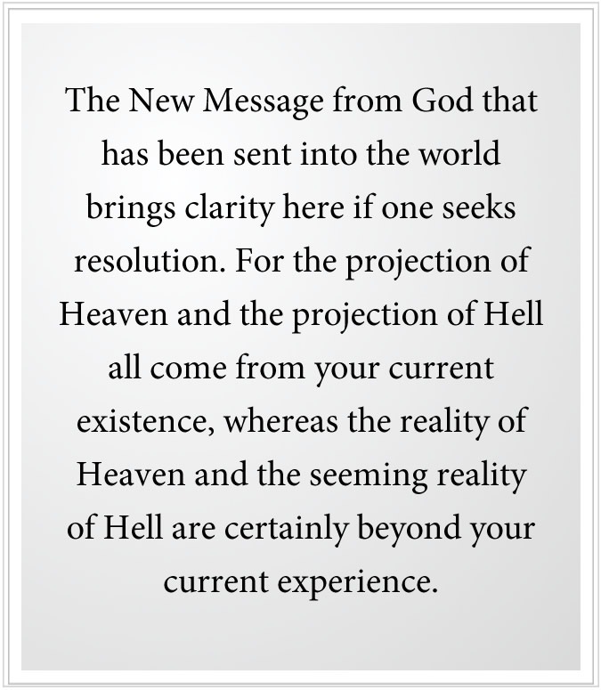 A new revelation on heaven and hell