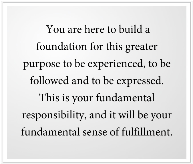 build a foundation for greater purpose