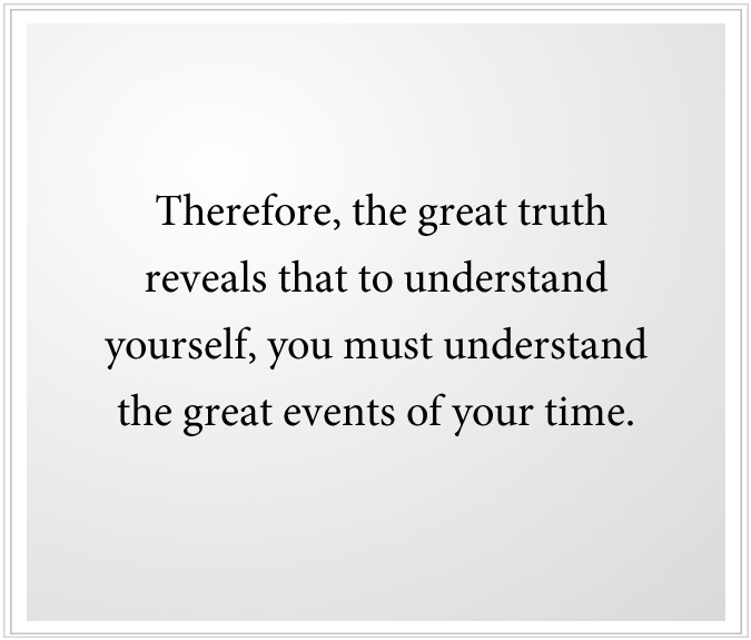 great truth to understand yourself