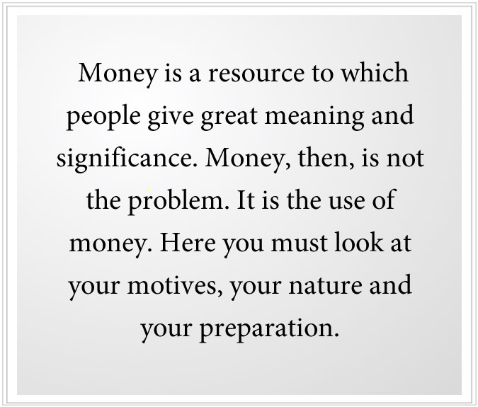 money is a resource