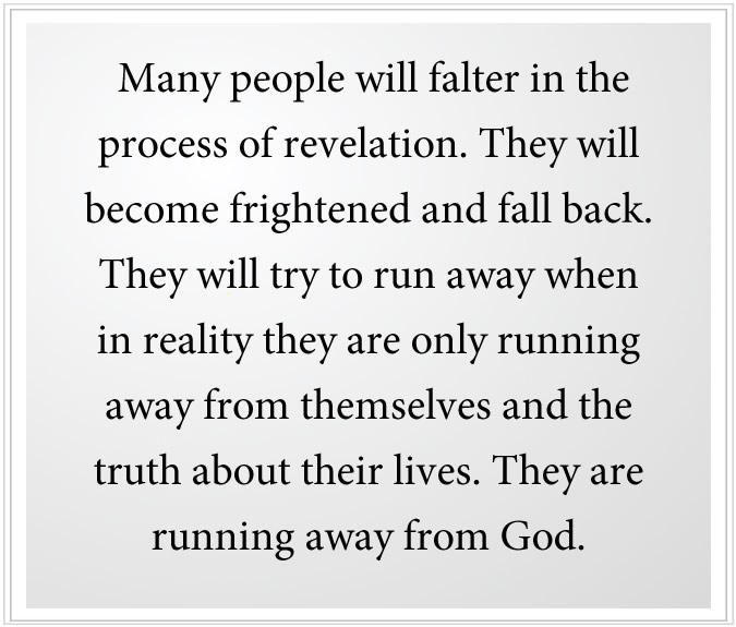 falter in the process of revelation