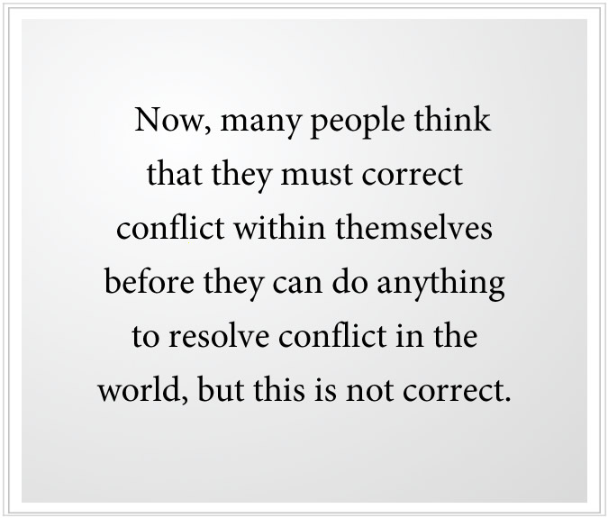 resolve conflict in yourself