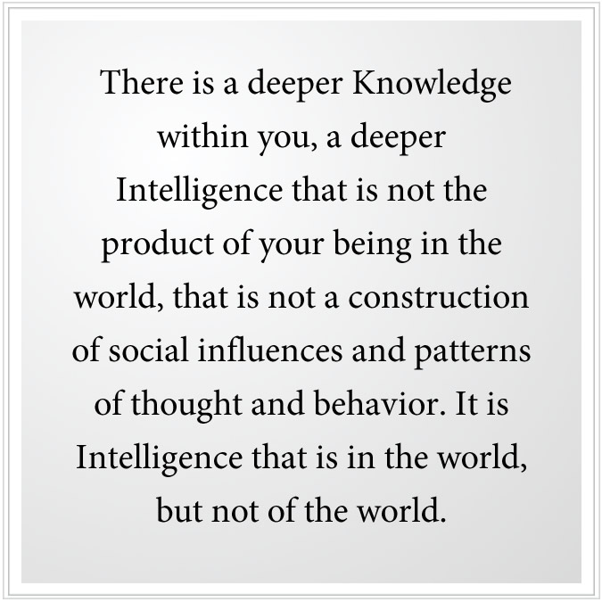 Intelligence that is in the world, but not of the world