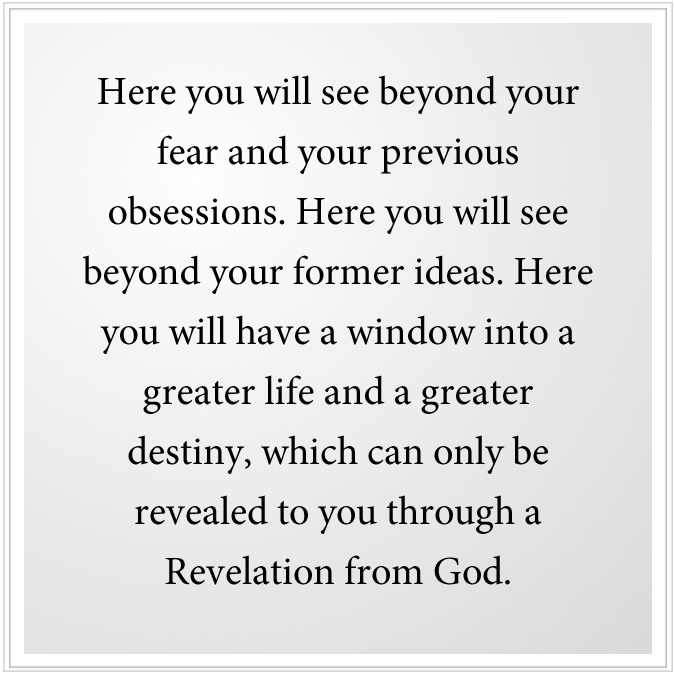 new revelation from god