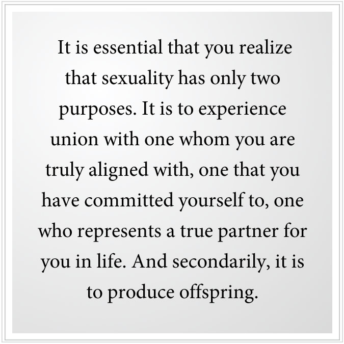 purpose of sexuality