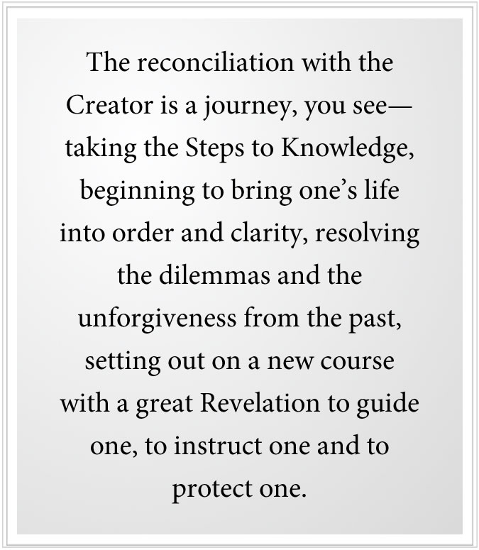 econciliation with the creator in a new revelation
