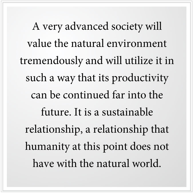 value the natural environment