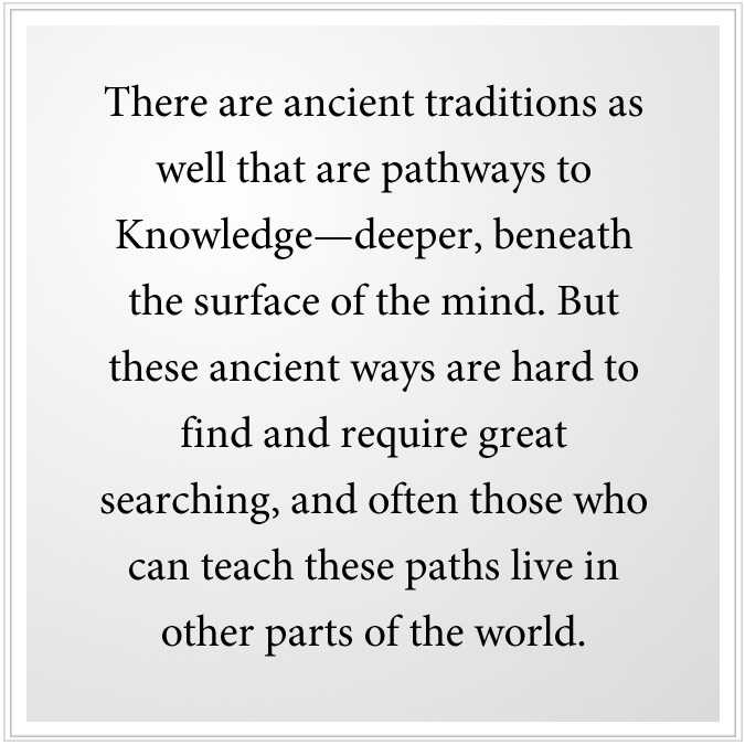 Ancient traditions teach how to go beneath the surface of the mind